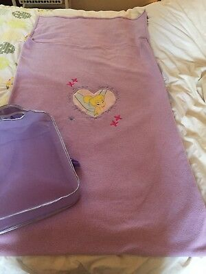 Childs Tinkerbelle Fleece Sleeping Bag