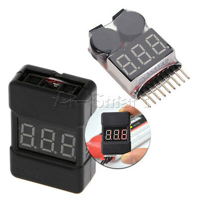 BX100 1-8S Low Voltage 2 In1 Lipo Li-ion Battery Tester Buzzer Alarm Dual Speak