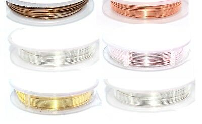 Craft Wire - Beading and Jewellery Making - Non Tarnish Copper Wire - 4 Sizes