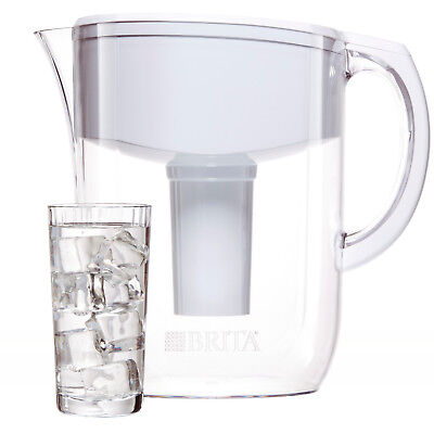 [HOT] Brita Large 10 Cup Everyday Water Pitcher with Filter- BPA Free - White