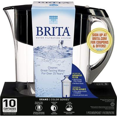 Brita Large 10 Cup Grand Water Pitcher with Filter, BPA Free -Various Colors-NEW