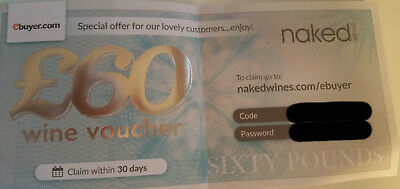Naked Wines Gift Voucher - Take £60 off when you buy a case of £99.99 or more