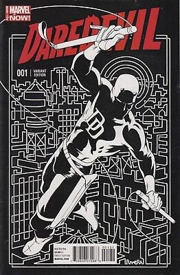 DAREDEVIL  1 ...NM-...2014...4th Series ... 1:50 Variant Cover .Bargain!