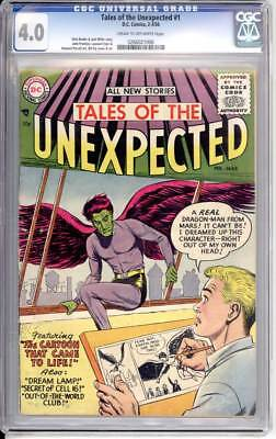 Tales of the Unexpected # 1  Cartoon that came to Life !  CGC 4.0 scarce book !
