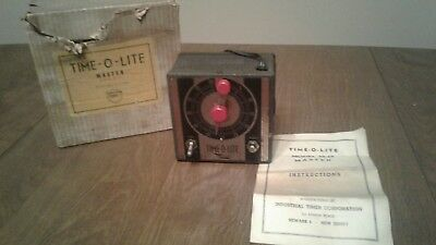 Vintage Time-O-Lite M-49 Master Industrial Photo Timer W Box & Instructions M49