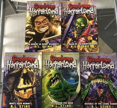 Goosebumps Horrorland Books Set Of 5 Brand New RRP £24.95 By R.L Stine Halloween