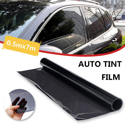 Car Side Window Tint Solar Film Black Roll 20% VLT 0.5mx7m House Glass Tinting