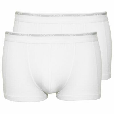 Jockey 2-Pack Modern Classic Men's Boxer Trunks, White