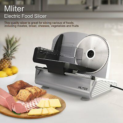 150W Electric Stainless Steel Food Slicer Meat Cheese Vegetables Bread/Processor