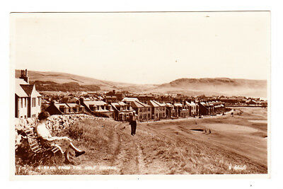 Girvan from the Golf Course - Postcard - Real Photo - Ayrshire Scotland 1950s