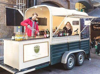 Mobile English Wine bar FOR HIRE, converted horse Trailer (weddings, events)