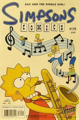 Simpsons Comics # 170 Near Mint (NM) Bongo Comics MODERN AGE