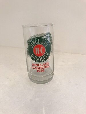 Sinclair Gasoline ~ Through The Years ~ 1926 Logo HC ~ Glass Tumbler Advertising