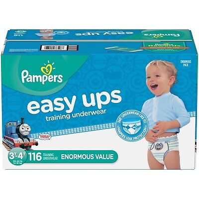 Pampers Easy Ups Training Underwear Boys, 3T/4T, 116Ct