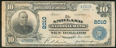 Ashland Kentucky National Bank Note, Series 1902