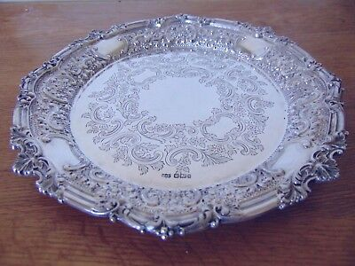 Mappin & Webb Gorgeous Victorian Sterling Silver Shell Flowers Waiter 1901