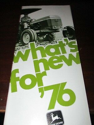 "John Deere ""What's New for '76"", ""New for '77"" Agricultural Equipment Brochures"