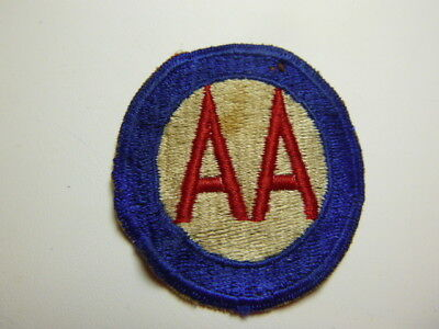 A   WW 2 U S Army AA Command Cut Edge Snow Back Patch
