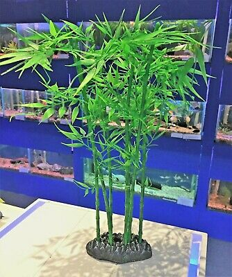 Tall Aquarium Bamboo Plant with Air Connector for Bubbles