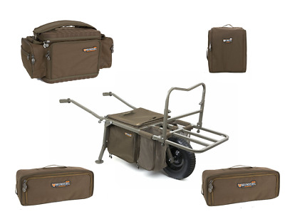 Fox Explorer Barrow Deluxe & Voyager Luggage Set NEW Carp Fishing