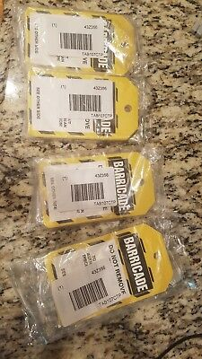 4 PACKS Accuform TAB107CTP Safety Tags Status Alert BARRICADE. PF-Cardstock 25PK