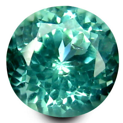 0.54 ct Round Cut (5 mm) Un-Heated Paraiba Blue Color Brazilian Apatite Gemstone