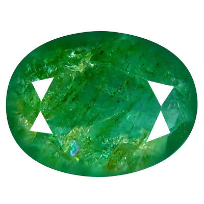 1.23 ct AWE-INSPIRING OVAL CUT (9 X 7 MM) COLOMBIAN EMERALD NATURAL GEMSTONE