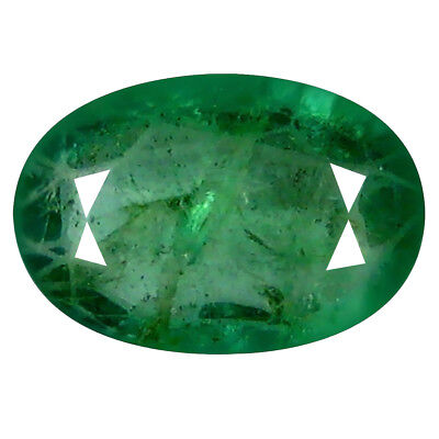 1.11 ct REMARKABLE OVAL CUT (9 X 6 MM) COLOMBIAN EMERALD NATURAL GEMSTONE