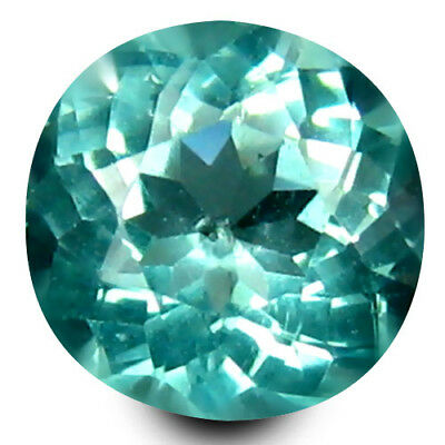 0.45 ct Round Cut (5 mm) Un-Heated Paraiba Blue Color Brazilian Apatite Gemstone