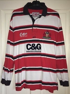 Gloucester Rugby Union Shirt Large 2003 Cotton Traders Rare Vintage Home L/s