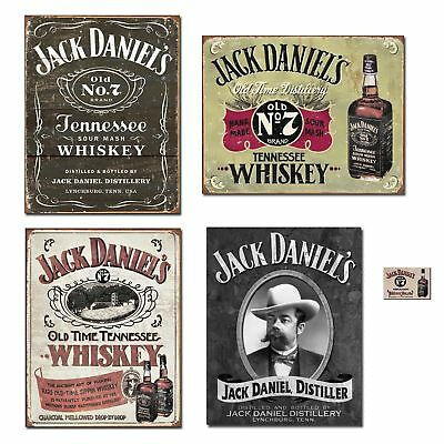 Bundle: Jack Daniels Sign Decor - Jack Daniels Logo Tin Sign, Jack Daniels Ha...