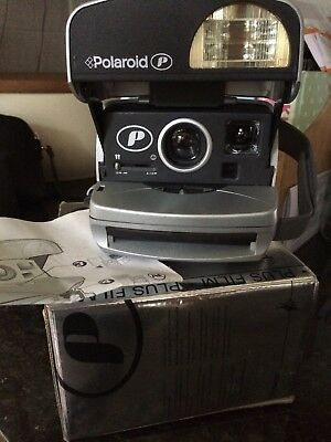 Polaroid P600 Instant Camera Boxed & Instructions Working