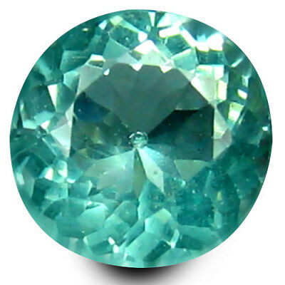 0.42 ct Round Cut (5 mm) Un-Heated Paraiba Blue Color Brazilian Apatite Gemstone
