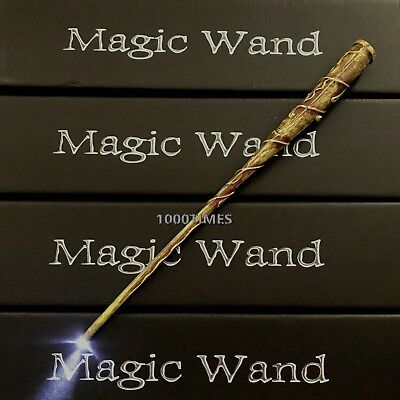 Harry Potter Hogwarts Hermione Magic Wand Wizard w/ LED Light Cosplay Costume
