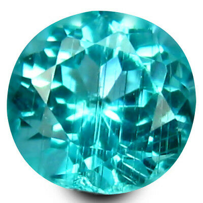 0.43 ct Round Cut (5 x 4 mm) Un-Heated Paraiba Blue Color Brazilian Apatite Gem
