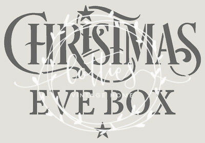 STENCIL A5 Christmas Eve Box - MAKE YOUR OWN BOXES Crates DIY Vintage UPCYCLE ❤