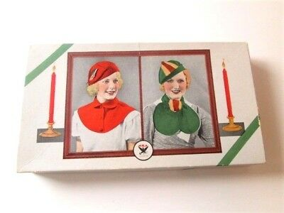 NRA Code Collar Box Vintage 1930s FDR New Deal Christmas Red Green Advertising