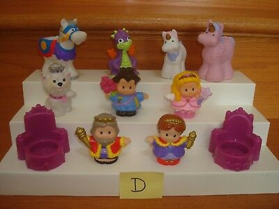 Lot of Fisher Price Little People Royals Knight King Queen Castle Figures