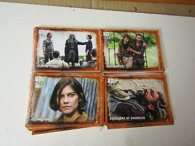 The Walking Dead  Season 8, Part 1.  Rust Parallel Set.  90 Cards Total