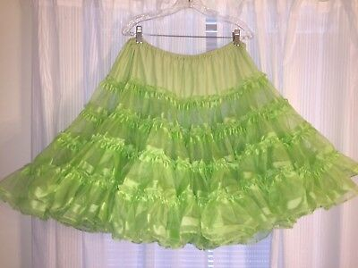 Square Dance Lime Green Petticoat-Large/ XL