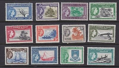 Gilbert & Ellice Islands 1956 Set to 10s Mint Never Hinged