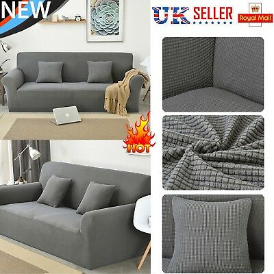 1/2/3 Slipcover Seater Sofa Couch Stretch Covers Elastic Fabric Settee Protector