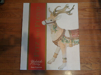 Fitz and Floyd Yuletide Holiday Collection Reindeer Figurine 49-521