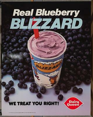 Vintage Dairy Queen Promotional Poster Dennis The Menace Blueberry Blizzard dq2