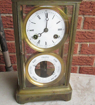 French Crystal Regulator / Barometer Clock