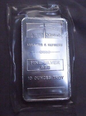 Silver Bar 10 Troy Ounces | NTR Metals | Silver Bullion .999 Fine