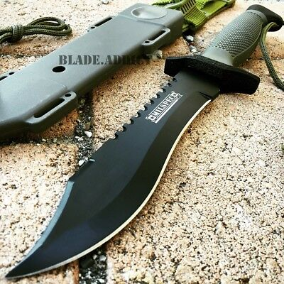 "12"" Hunting Fixed Blade Tactical Combat Survival Knife w Sheath Military Bowie-S"