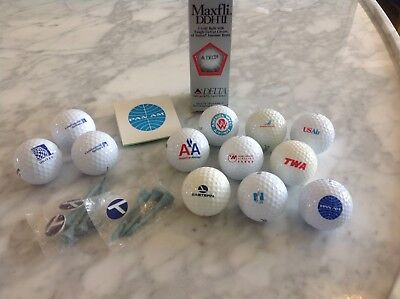 Airline Golf Ball, Ball Marker & Tee Collection including Pan Am, TWA & Eastern