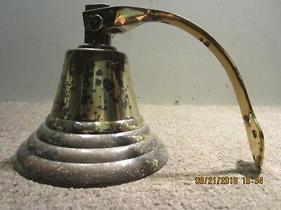 Vintage Weather Worn, Heavy Brass Ship's Bell