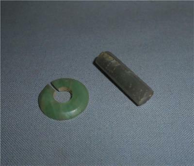 Antique China TOP HIGH AGED ANCIENT HAN DYNASTY JADE NOSEPLUG EARPLUG